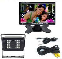 12V/24V Parking System Truck Bus Rear View Camera With 7 TFT LCD Monitor and 15M RAC Cable
