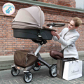 russin free shipping 2 in 1 High landscape baby trolley can be a two-way can be lying to sit folding portable imported brands