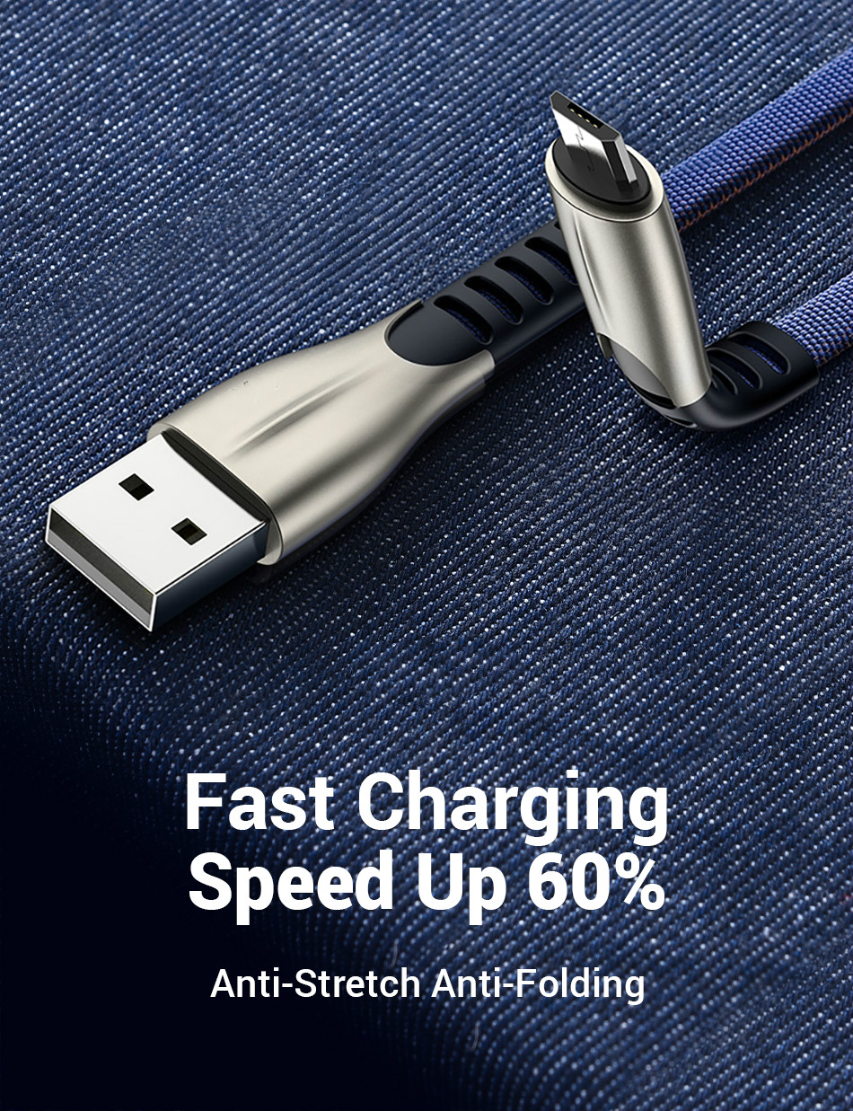 Image 5 - Micro USB Cable Android, Micro USB to USB 2.0 Cable Nylon Braided Sync and Fast Charging Cable for Samsung, Kindle,Android Smart-in Computer Cables & Connectors from Computer & Office