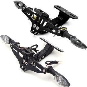 Image 5 - Motosiklet Plaka Braketi Lisans Sahibi Çerçeve Numarası Plaka Plaka işık Yamaha FZ6 FAZER FZ6R FZ8 MT07 R3 r6