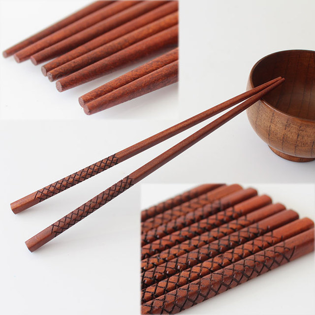 FREE Shipping 10Pairs/Lot new 2014 Natural Eco-friendly household tableware handmade wooden chopsticks  in bulk wholesale CK020