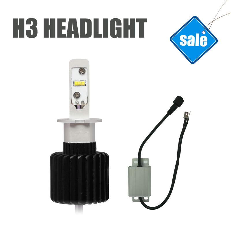H3 LED Automobile Headlights LED Cars Bulbs High Quality Super Bright 6000K White Light Easy Install