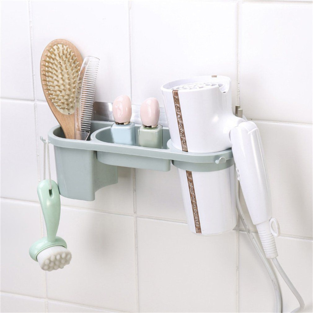 Aluminum Blow Hair Dryer Holder Wall Bathroom Stand Home AccessoriesC hf