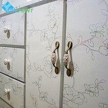 Lazer çiçek duvar Sticker kendinden yapışkan mobilya dekoratif Film buzdolabı çıkartma eski dolap dolap yenilenmiş su geçirmez kağıt