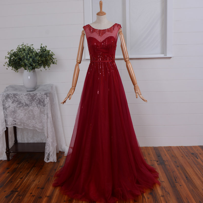 free shipping vestidos de festa sexy backless cap sleeve long   prom     dresses   beading 2015 new fashionable a-line red tulle