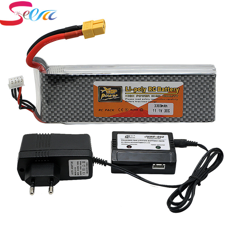 3s lipo battery 11.V 3300mah 30C and charger For Quadcopters Helicopters RC Cars Boats High Rate batteria lipo car parts xxl rc lipo battery 2200mah 11 1v 3s 30c for trx 450 rc fixed wing helicopters airplanes cars