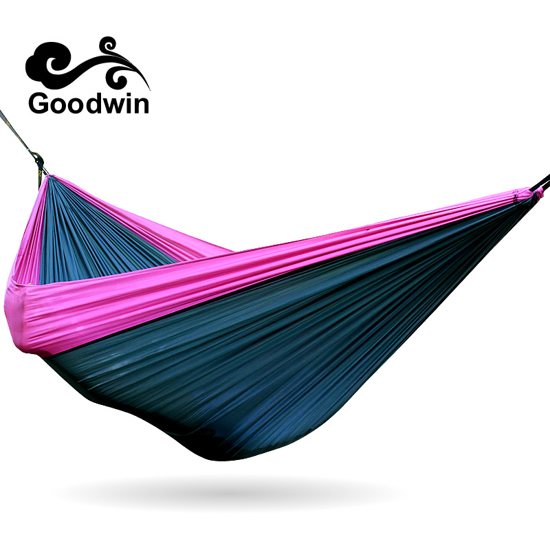 2018 Double Hammock Camping Survival Hammock 300*200cm Parachute Cloth Portable Double Person Outdoor Leisure Yoga Tent Hammock