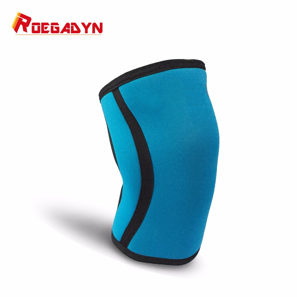 2017 Best New design Gym Powerlifting athletics 7MM Neoprene Knee Brace Support sleeve