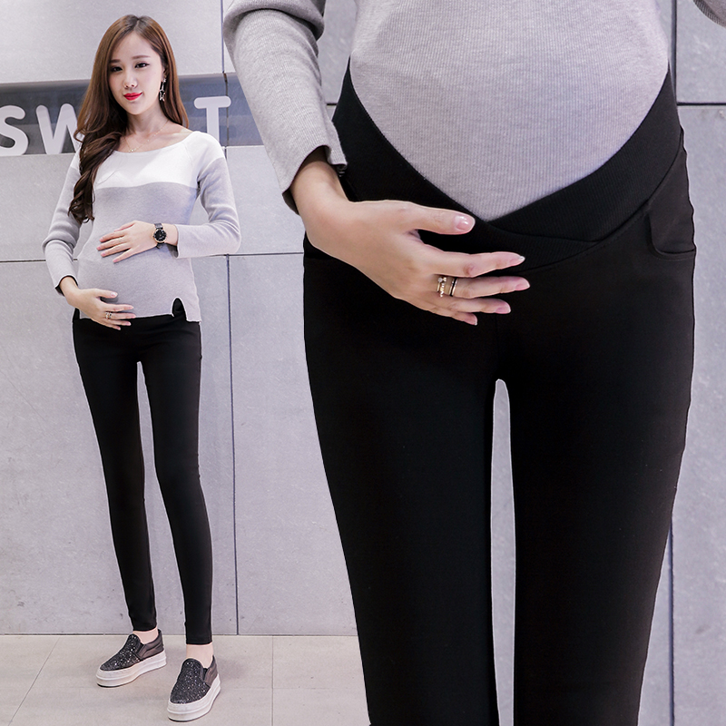 Low Waist Stretch Cotton Pregnant Pants Maternity Clothes For Pregnant Women Casual Trousers Pregnancy Pencil Slim Clothing