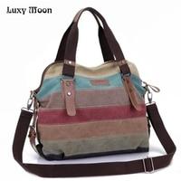 Luxy Лунная Радуга Цвет модные сумки холст супер лоскутное покупки сумки Повседневная сумка Bolsas