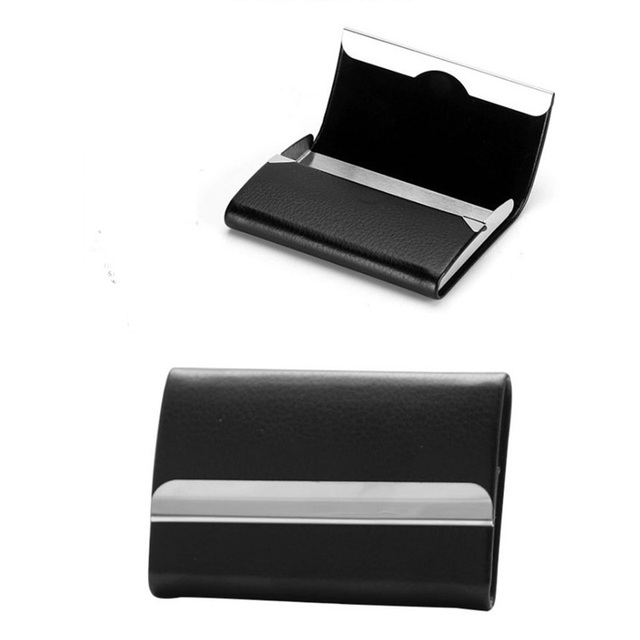 Bisi Goro 2021 New Wallet Men Bussiness Card Name Holder Pu  Leather ID Card Case Bank Card Holder Wallet Package 7 Colors 3