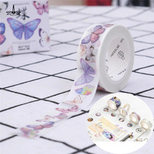 Free Shipping DIY Butterfly Masking Tape DIY Paper Adhesive Craft Washi Tape Decorative Sticker