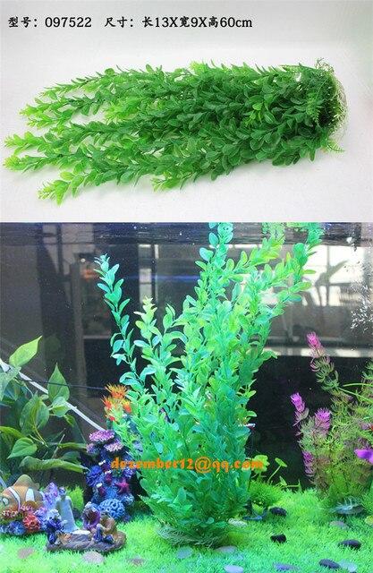 Large Size 60CM High Fish Tank Aquarium Ornament Artificial Plants Fake Water Plants Grass Plastic Plant Decoration