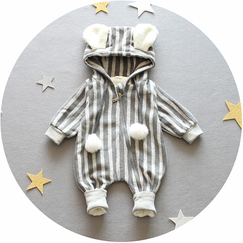 Free shipping 0 9months long Sleeved Baby Infant cartoon footies bodysuits for boys girls jumpsuits Clothing newborn clothes