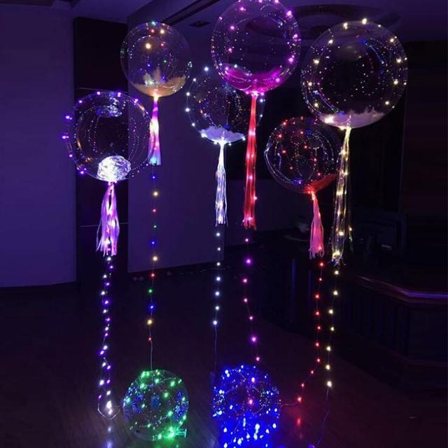 Light Up Toys Led String Lights Flasher Lighting Balloon Wave Ball 18inch Helium Balloons Christmas