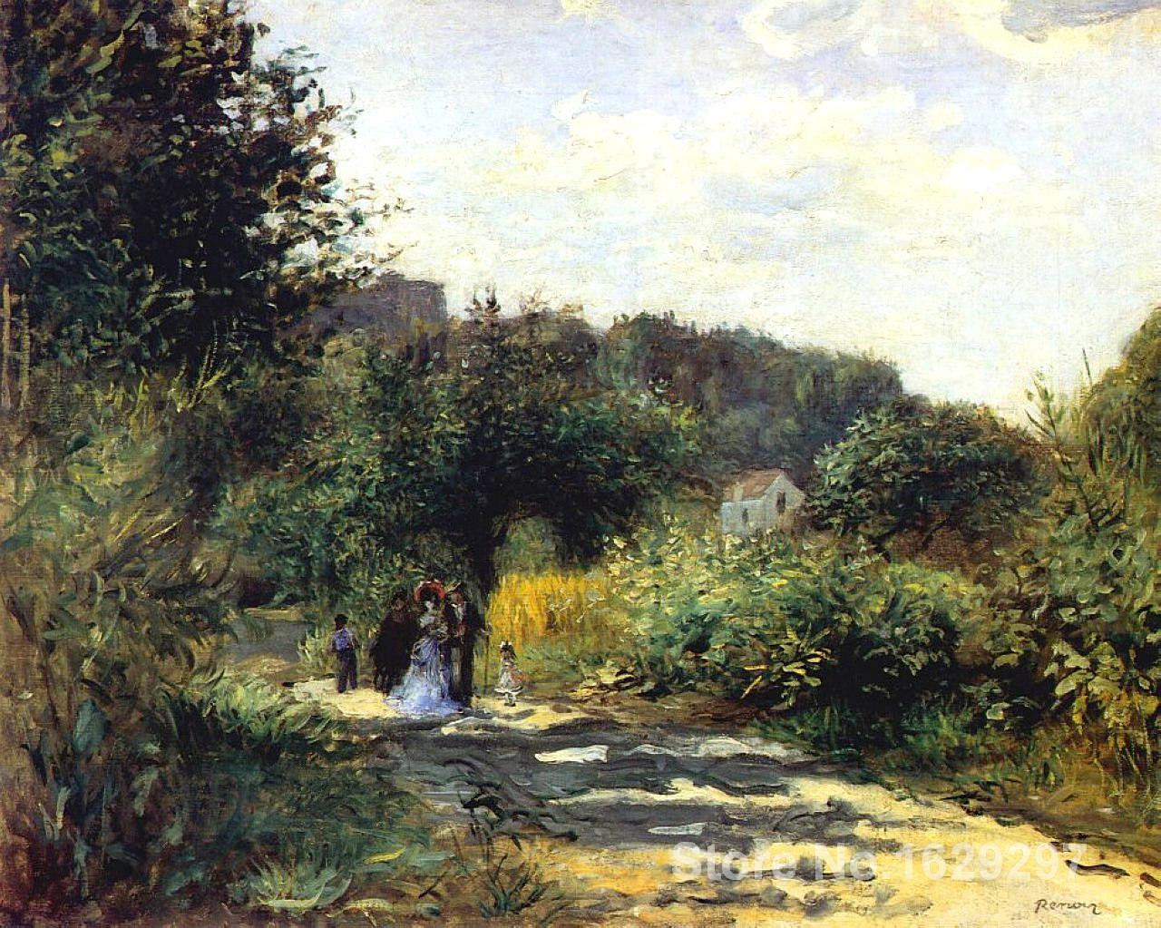 paintings on canvas A Road in Louveciennes by Pierre Auguste Renoir Reproduction High Quality Hand-paintedpaintings on canvas A Road in Louveciennes by Pierre Auguste Renoir Reproduction High Quality Hand-painted
