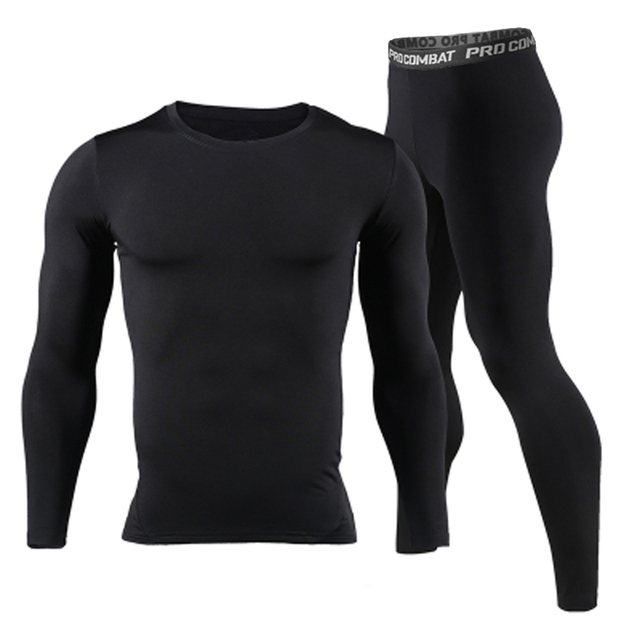 Men Long Johns Winter Thermal Underwear Sets Brand Quick Dry Anti-microbial Men's Stretch Warm Thermo Underwear Spring
