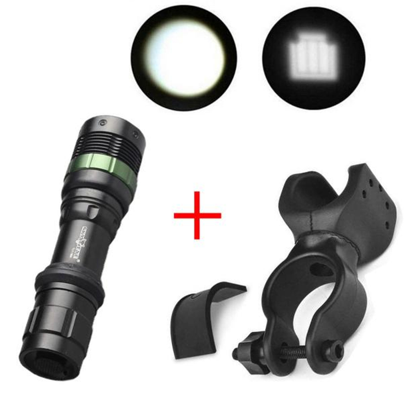 5000LM XM-L T6 Aluminum Waterproof Zoomable LED Flashlight Torch Cycling Bicycle light for 18650 Rechargeable Battery #4AP26