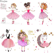 Prajna, сделай сам, железные Пластыри для балетной девочки, нашивки для одежды в полоску, железные Пластыри для теплопередачи, виниловые пластыри, термоаппликация, значок