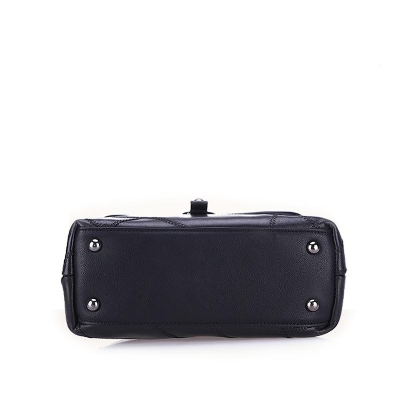 2019 New Patchwork Naised Ehtne nahast kott Rivet Messenger kotid - Käekotid - Foto 6
