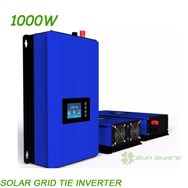 Deuxième Génération MPPT 1000 W L'énergie solaire sinusoïdale pure Grille Tie Inverter DC22V-60V/45 V-90 V À AC110V/220 V. LCD affichage