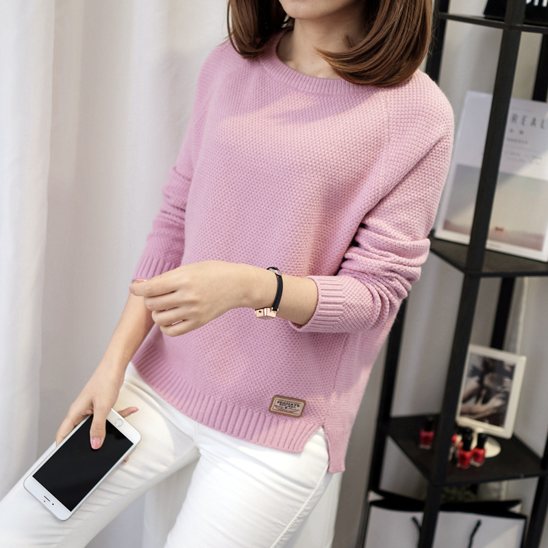 Autumn sweater 19 Winter women fashion sexy o-neck Casual women sweaters and pullover warm Long sleeve Knitted Sweater 3