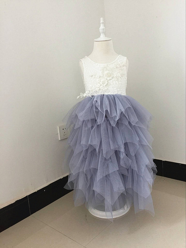 Retail 2017 Girls summer sweet lace flower princess dress , girls lace dress , girl dresses , RR01