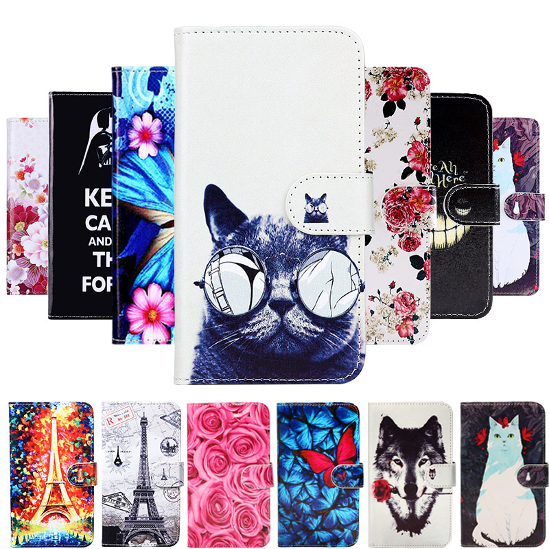 Painted Wallet Case For Leagoo M8 Leagoo M8 Pro Cases Phone Cover Flip PU Leather Painted Anti-fall Shell Bag Fashion Covers