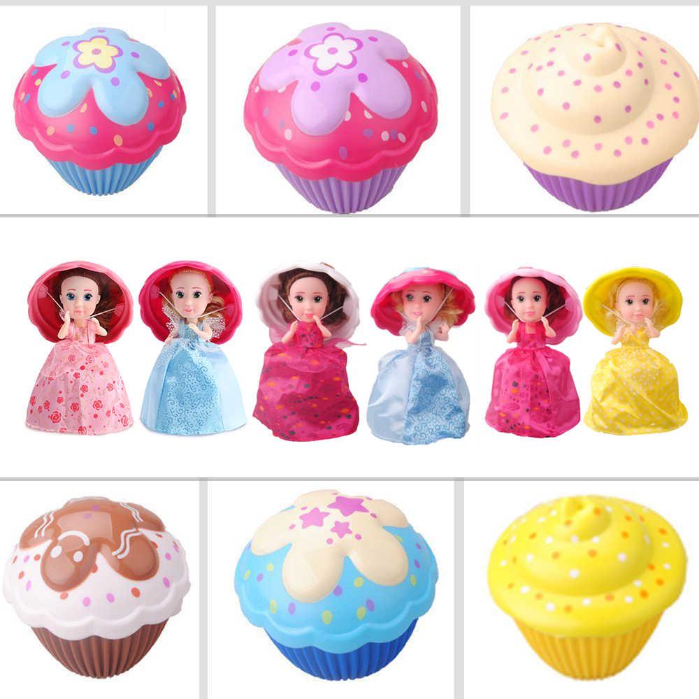 Bất ngờ Cupcake Búp Bê Công Chúa Biến Dạng Giày Búp Bê Bé Gái Dễ Thương Đồ Chơi Sinh Nhật Mini Bánh Đồ Chơi Búp Bê cho Bé Boneca