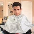 Hair Cutting Cloak Breathable Cloth Umbrella Styling Cape Salon Barber Salon Home Stylists Silver Grey Three Dimensional Cape