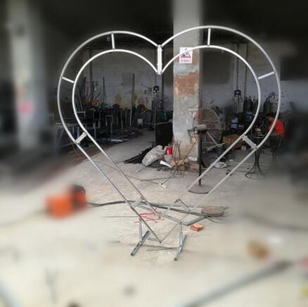 Arche de mariage en forme de cœur pêche | Arc d'amour, cadre de travail en fer, cadre de porte en forme de cœur, arc spécial en forme de cœur