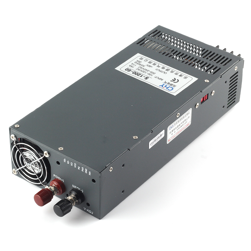1200W 60V 20A adjustable 110V or 220V input Single Output Switching power supply for LED Strip light AC to DC best quality 12v 15a 180w switching power supply driver for led strip ac 100 240v input to dc 12v