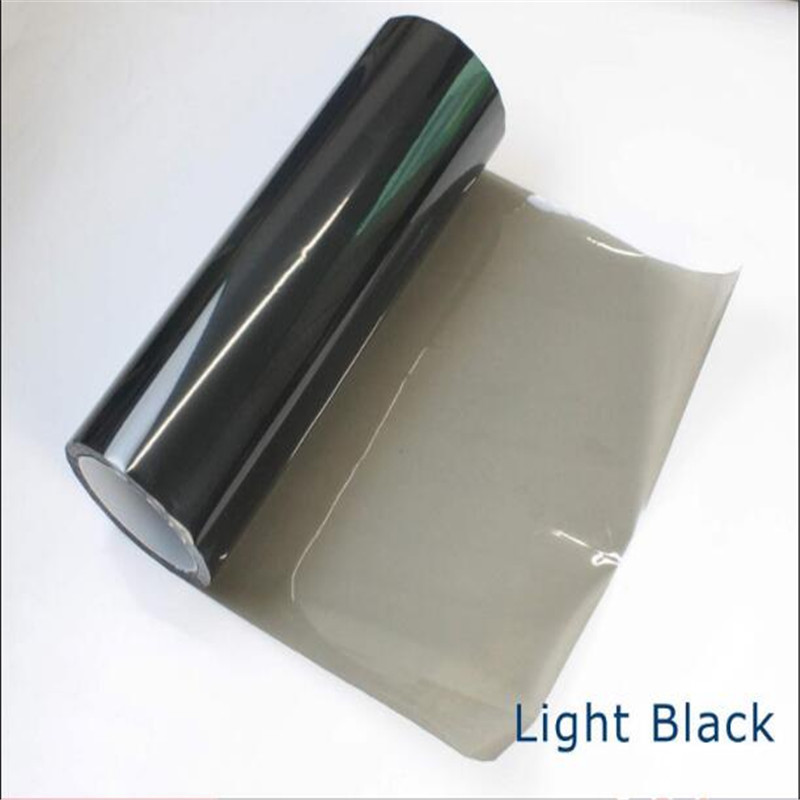 40 X 120cm Light Black Tail Fog Head Light Tint Vinyl Film Van UTE 4x4 4WD SUV Waterproof All Weather Car Decoration Accessories