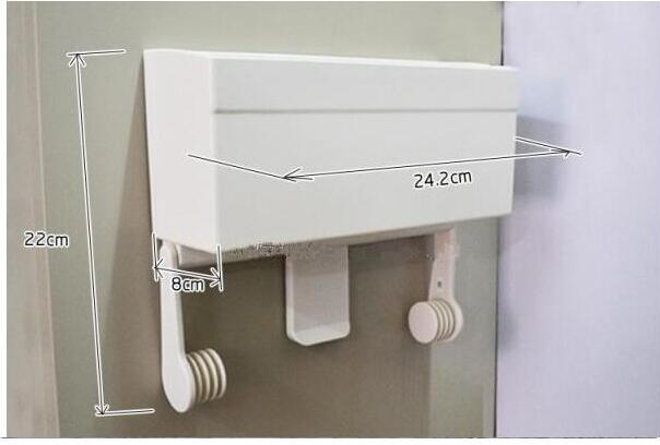 Absorbing Paper Towel Rack Plastic Wrap Rack Without Trace Refrigerato