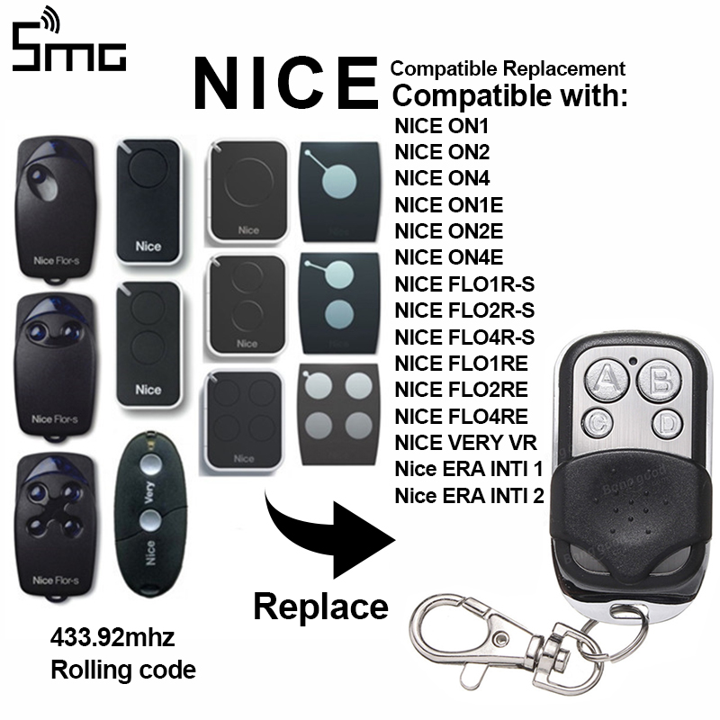 Transmitter-Switch Remote-Control-Controller Garage-Door Nice Era Wireless FLO2R-S 4-Buttons