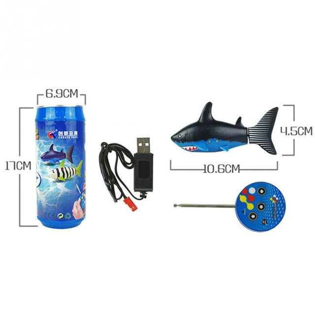 2018 New Radio Remote control air shark RC Super mini Shark fish Boat  Submarine Gift