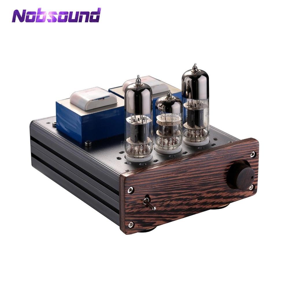 Nobsound Latest Mini 6N6+6N2 Vacuum Tube Amplifier HiFi SEPP Class AB Desktop Power Amp цена