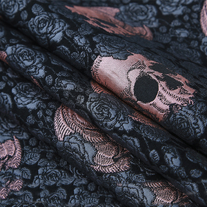 145cm width France Imported Rose Metallic Jacquard Brocade Fabric,3D jacquard yarn dyed fabric for Womens Coat Dress Skirt