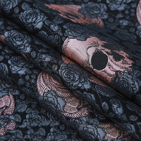 145x50cm France Imported Rose Metallic Jacquard Brocade Fabric,3D jacquard yarn dyed fabric for Womens Coat Dress Skirt