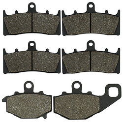 Cyleto Motorcycle Front and Rear Brake Pads for Kawasaki ZX 6R ZX6R ZX 600 98-01 ZX9R ZX 9R Ninja 96-01 ZX6R ZX636 2002