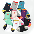 Japanese Harajuku Heart Eye Play Socks Men Women Pure Cotton Knitting Short Cdg Sokken Korea Fashion Color Rush Mens Dress Socks