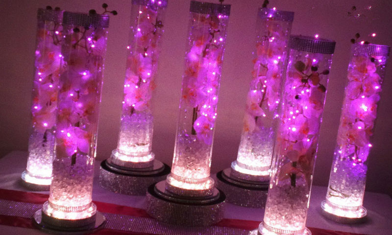 Image Gallery Led Lights For Centerpieces
