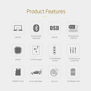 Image 2 - XDUOO X3II X3 II AK4490 USB DAC Bluetooth Portable HD Lossless MP3/WAV/ FLAC Music Player DSD128 Hiby Link In line Control