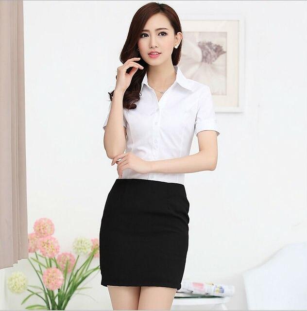 Новый 2015 Femininas весна лето деловых женщин рабочая одежда костюмы с блузкой и мини-юбки рубашки костюм с юбка офис дамы