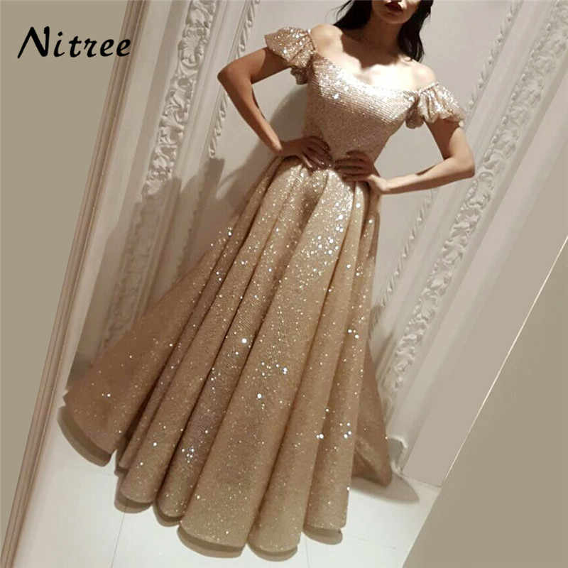 African Bling Off Shoulder Evening Dresses Turkish Arabic In Dubai Formal  Prom Gowns Dress For Weddings 7413b82bfab2