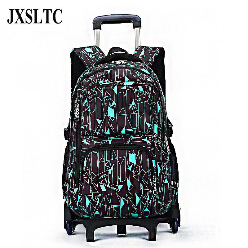 Hot Sales Removable Children School Bags with 6 Wheels Large Capacity Trolley Backpack Kids Wheeled Bags Boys Girls Bookbag children school bag minecraft cartoon backpack pupils printing school bags hot game backpacks for boys and girls mochila escolar