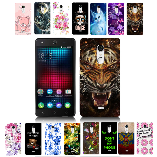 0fa3efdcdc00 US $1.95 |For BQ 5050 Cartoon Tiger Print TPU Case Cover Shell Housing Bag  For BQ BQS 5050 Strike Selfie Animal Phone Cases-in Half-wrapped Case from  ...