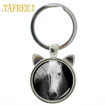 TAFREE 2017 Vintage Brand Pentium Horse keychain strength beauty tall shiny hair color key chain fashion ring holder jewelry A06 image