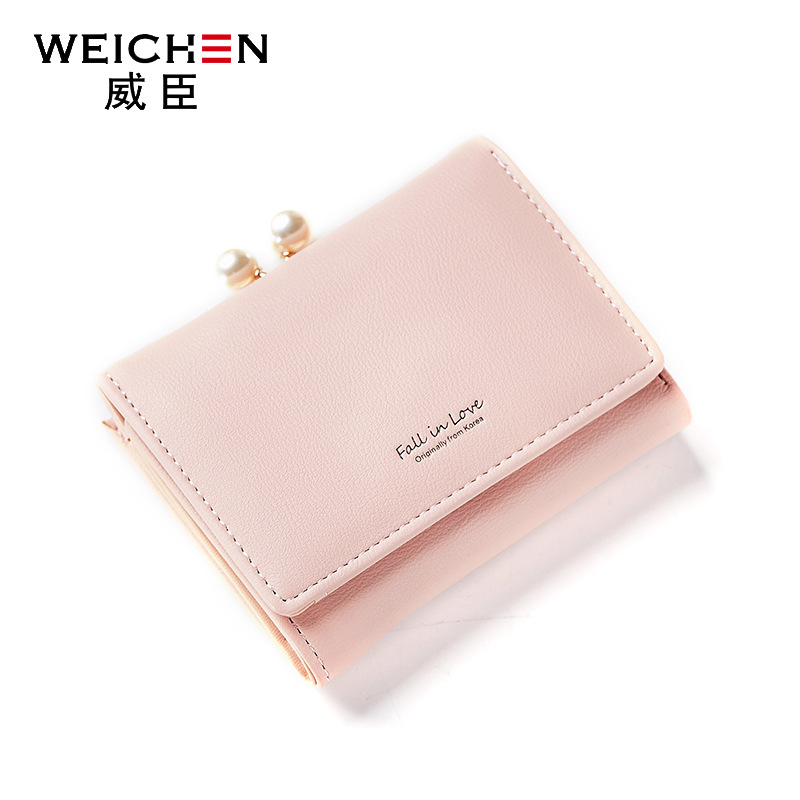 2018 new arrival fashion women wallets brand wallet PU leather solid color high quality coin purse mini wallets than korean