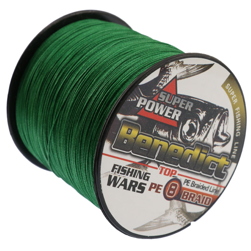 500M Super Sterk Japan Multifilament PE Flettet Grønt Fishing Line Super fiske tråd 8strands fiske ledninger for salg